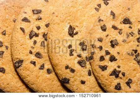Stack Of Cookies Associated Rope Close-up Shot