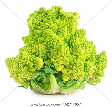 Appetizing Green Cathedral Broccoli Isolated On White Background