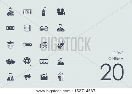cinema vector set of modern simple icons