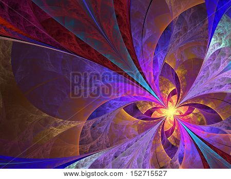 Beautiful multicolored fbutterfly ractal background computer generated image