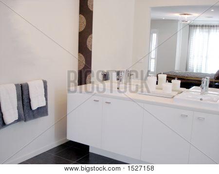 White Double Bathroom