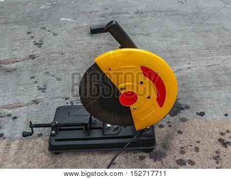 Fiber cutting machine  in the construction site