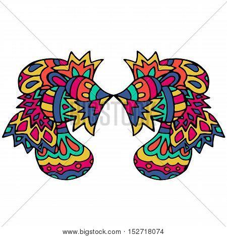 Ethnic patterns, geometric picture. Authentic Boho print. Vector illustration