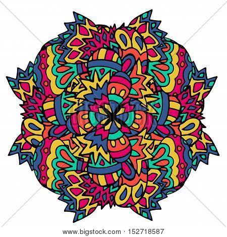 Ethnic patterns, geometric picture. Authentic mandala print. Vector illustration