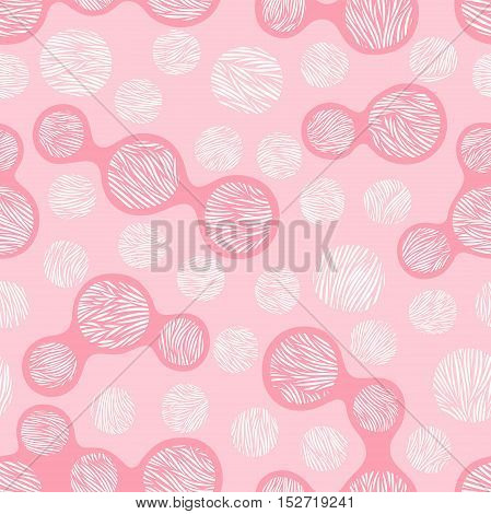 Seamless pattern. Stylized texture of leopard skins. Hand drawn specks. Vector illustration