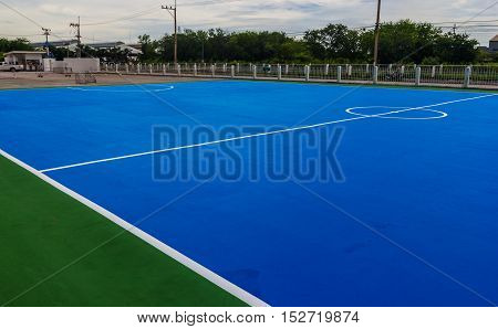 Futsal field. in a factory. for Playing and exercise