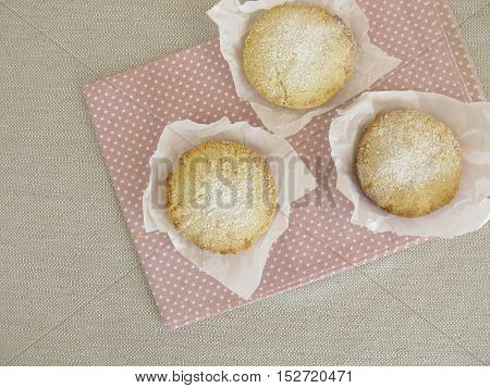 Polvorones, homemade spanish shortbread in paper wrapper
