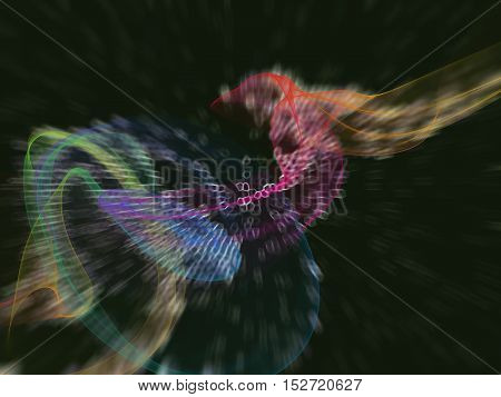 connection rainbow network concept science abstract geometrical tech background.