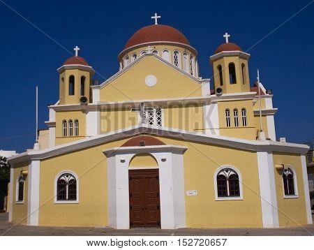 Greek catholic church on Lassithi plateau in Crete