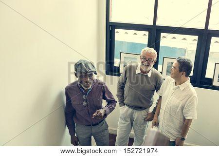 Group Of Senior Retirement Discussion Concept
