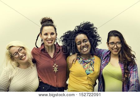 Group of Friends Happiness Enjoyment Concept