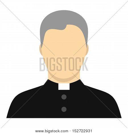 Catholic priest icon. Flat illustration of catholic priest vector icon for web design