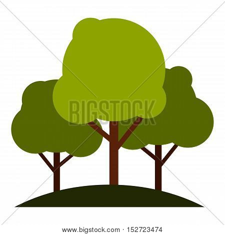 Tree group icon. Flat illustration of tree group vector icon for web design