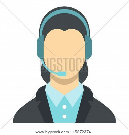 Call center operator icon. Flat illustration of operator vector icon for web design