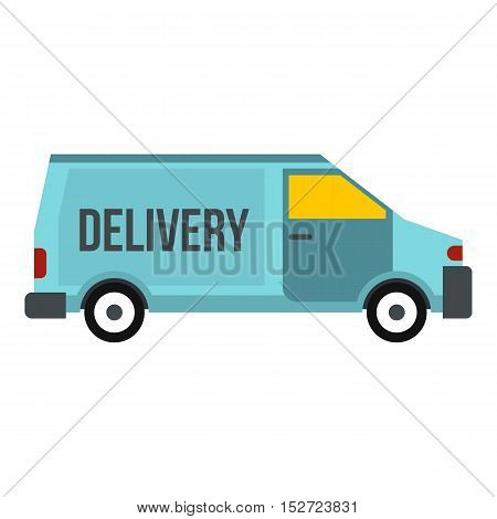 Delivery van icon. Flat illustration of delivery van vector icon for web design
