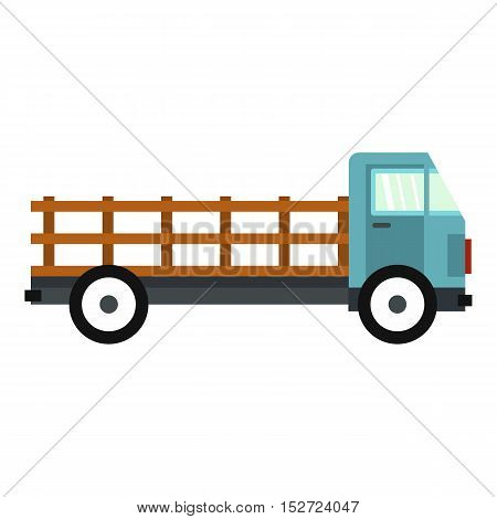 Delivery truck icon. Flat illustration of delivery truck vector icon for web design