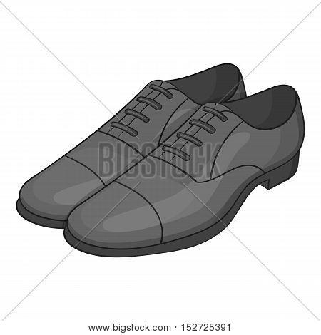 Men classic shoes icon. Gray monochrome illustration of men classic shoes vector icon for web