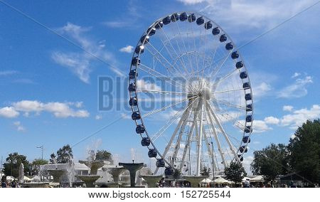 Big Wheel in the sunny City Centre in Gdynia