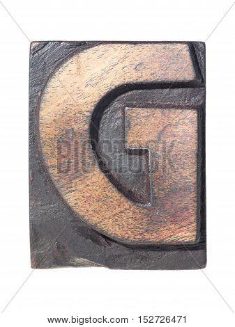 Wooden G Typeface
