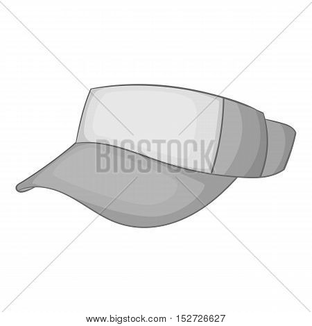 Cap without top icon. Gray monochrome illustration of cap without top vector icon for web