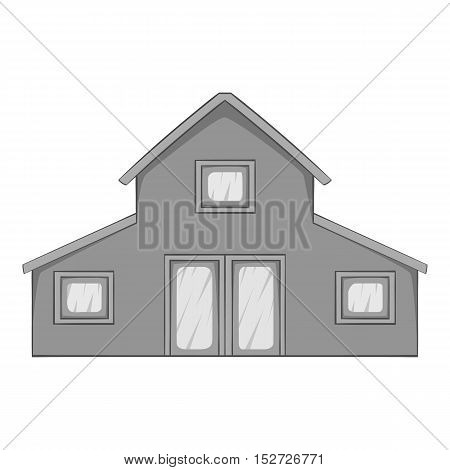 House icon. Gray monochrome illustration of house vector icon for web