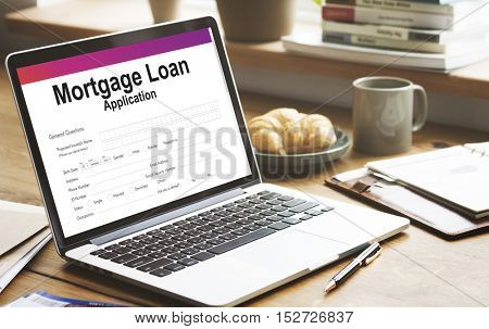 Business Finance Mortgage Loan Concept