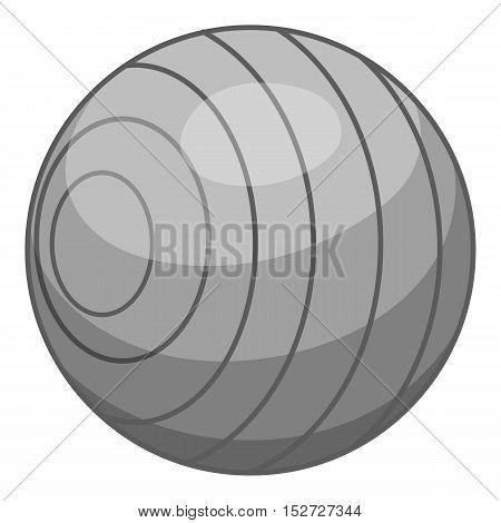 Children ball icon. Gray monochrome illustration of children ball vector icon for web