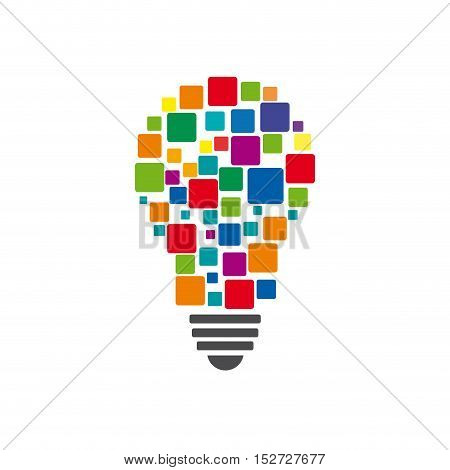 Vector sign digital startup. Isolated colorful  illustration