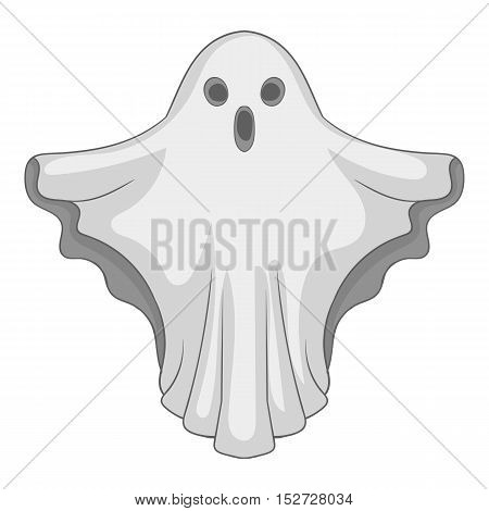 Ghost icon. Gray monochrome illustration of ghost vector icon for web