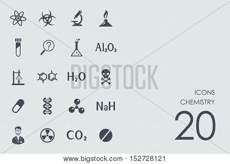 chemistry vector set of modern simple icons