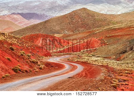 Winding Road In Atlas Mountains, Morocco