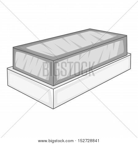 Tomb icon. Gray monochrome illustration of tomb vector icon for web