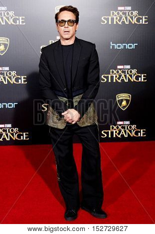 Robert Downey Jr. at the World premiere of 'Doctor Strange' held at the El Capitan Theatre in Hollywood, USA on October 20, 2016.