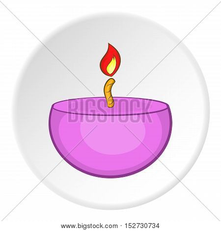 Candle icon. Cartoon illustration of candle vector icon for web
