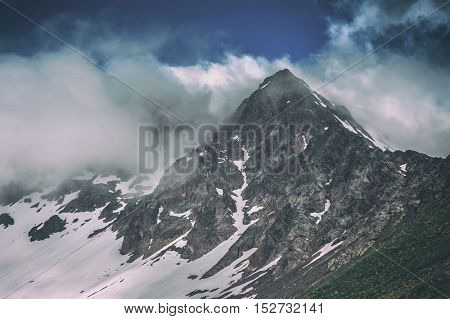 beautiful mountain on summer time, toned like Instagram filter