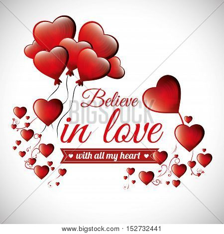 postcard romantic valentines day believe in love vector illustration eps 10