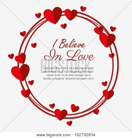 i believe love valenties day card vector illustration eps 10