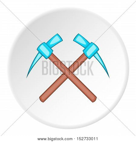 Two picks icon. Cartoon illustration of two picks vector icon for web