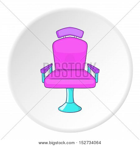 Barber chair icon. Cartoon illustration of barber chair vector icon for web