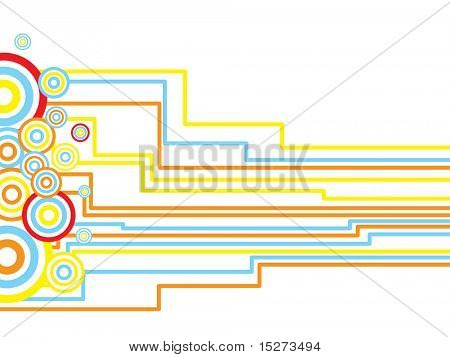 Abstract inca influenced design using circles and straight lines