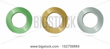 Vector illustration metal ring with a smooth gloss finish