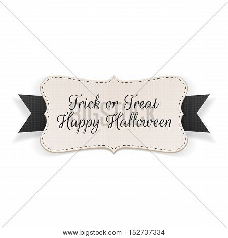 Trick or Treat Halloween Banner. Vector Illustration