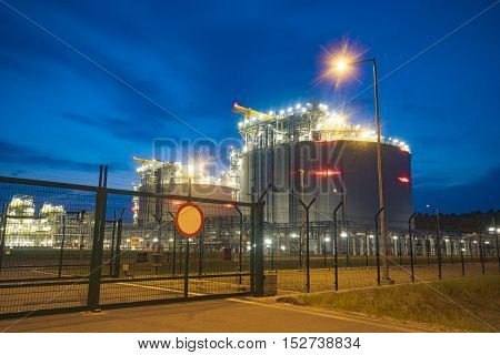 The LNG terminal in Swinoujscie,Liquefied Natural Gas (LNG) storage tanks,Poland