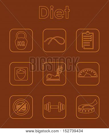 It is a set of diet simple web icons