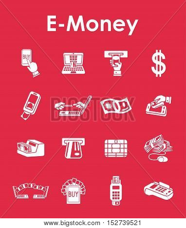 It is a set of e-money simple web icons