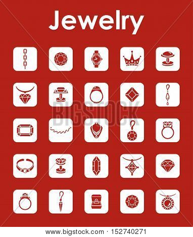 It is a set of jewelry simple web icons