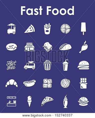 It is a set of fast food simple web icons