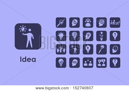 It is a set of idea simple web icons