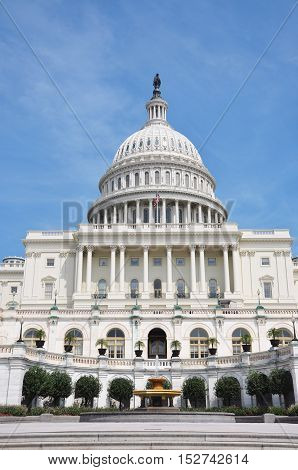Dome of United States Capitol Building, Washington DC, USA.