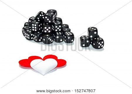 a lot of dice and heart insulation
